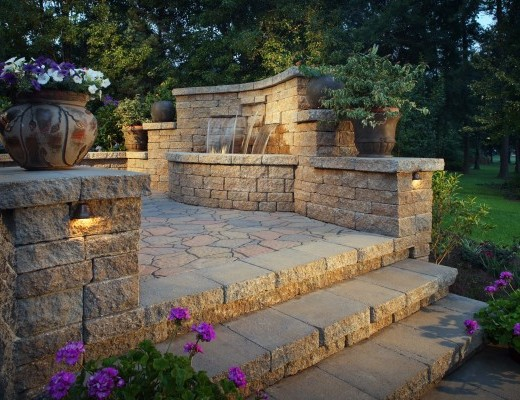 Hardscape projects located in Alabama and Georgia, completed with materials manufactured by Georgia Masonry Supply.